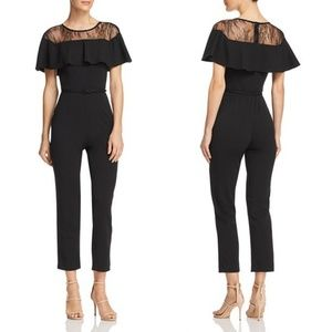 🆕 ADRIANNA PAPELL LACE INSET JUMPSUIT
